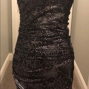 Express bodycon shimmer dress
